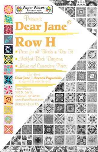 Dear Jane: Paper Pieces for All 13 Blocks in Row H of The Historic Dear Jane Quilt (English)