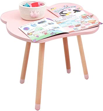 SSHHM Childrens Multifunctional Tables,Study Table,Cute Cartoon Style,Suitable for 2-10 Year-Old Boys and Girls Durable/Pink