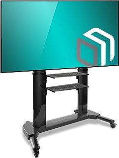 """ONKRON Stojak pod telewizor, podstawa do ekranów 42""""-80"""", uchwyt z regulacją wysokości, na kółkach, VESA 200 x 200 do 700 ..."""