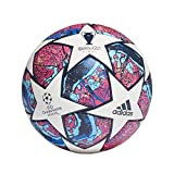adidas Men's FIN IST COM Soccer Ball, top:White/Pantone/Glory Blue/Dark Blue Bottom:Signal Green...