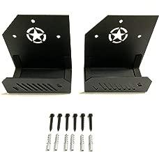 Door Hangers, Semtion Door Hanger Storage Rack Bracket Fits for Jeep Wrangler JK JKU TJ JL JLU YJ, Pack of 2
