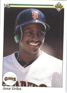 1990 Upper Deck # 188 Jose Uribe San Francisco Giants - MLB Baseball Trading Card