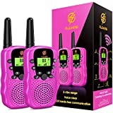 Girls Gifts Age 4-7, dmazing Walkie Talkies Toys with Backlit LCD Flashlight Christmas Birthday...
