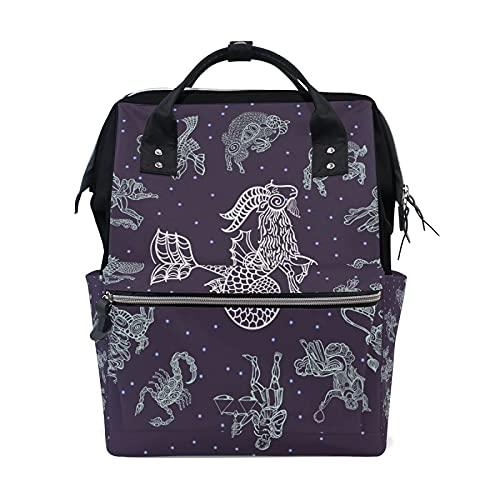 LDIYEU Dragón De Pez Zodiaco Púrpura Bolsa Compra Reutilizables Bolsas de Mano...