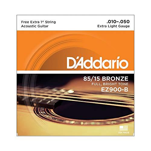 ENCORDOAMENTO VIOLAO ACO EZ900 .010-.050, D'ADDARIO, Natural