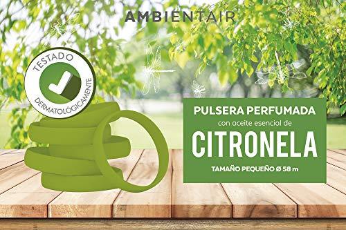 Ambientair Pulsera antimosquitos, 1 Pieza. 360 Horas de duración. Repelente Natural de citronela. Protección contra Insectos para Adultos y niños.