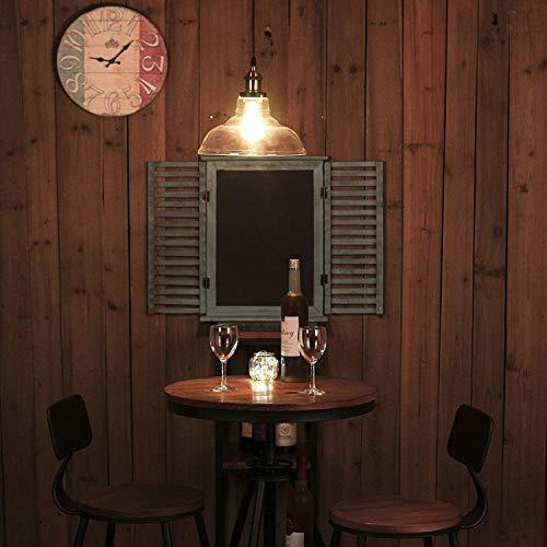SISVIV Lámpara Colgante Vintage Industrial Luz Cristal de Techo Retro para...