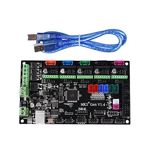 KINGPRINT Impresora 3D MKS Gen V1.4 placa controladora Mega 2560 R3 placa base RepRap Ramps1.4 compatible con USB