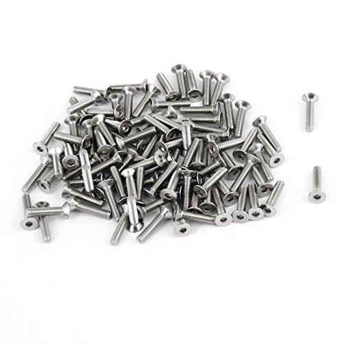 Tornillo Allen de acero inoxidable con cabeza avellanada Llave Allen M3x14mm 100 piezas 304HC