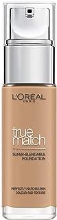 Base líquida L'Oreal Paris True Match de 5 W, arena dorada con ácido hialurónico y SPF 30 ml