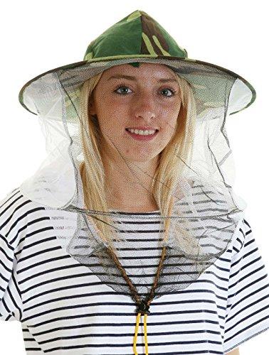 chapeau de camouflage abeille et voile