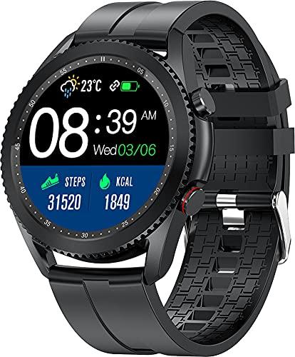 Smartwatch Bluetooth Telefonie Voll Touch Farbdisplay Fitness Armbanduhr für Damen Herren Blutdruck Pulsmesser Sportuhr Schrittzähler Musiksteuerung iOS Android Unisex