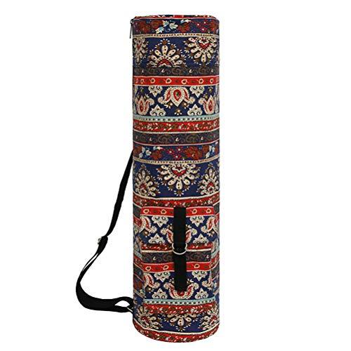 Wakauto Bolsa de yoga con cremallera completa para esterilla de yoga resistente e impermeable, con correa de hombro ajustable