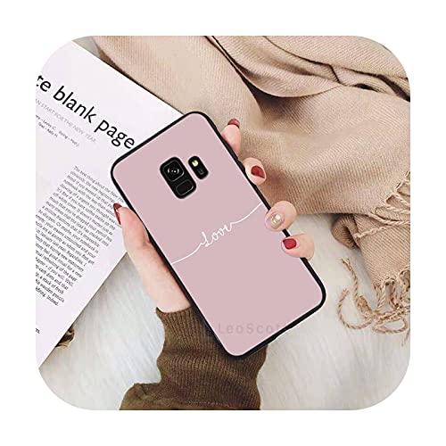 amor corazón rosa lindo smile teléfono caso para Samsung Galaxy S5 S6 S7 S8 S9 S10 S10e S20 borde más lite Shell cubierta Funda-a7-para S6