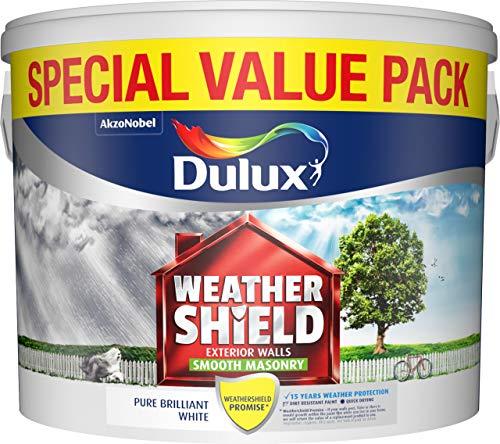 Dulux Weathershield Smooth White Masonry Paint 7.5L