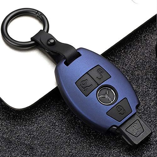 QQKLP Car-Styling-Schlüssel-Abdeckung Fall fit für Mercedes Benz Neue E-Klasse E200 E260 E300 E320 W213 W203 W204 W205 W210 W211 W124,C Blue