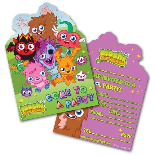 Moshi Monsters fête d'anniversaire invitent cartes 1 pack de 6