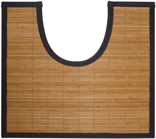 Gelco Design 705365 Contour de Bain Okaido Petites Lattes Foncé 50 x 45 cm