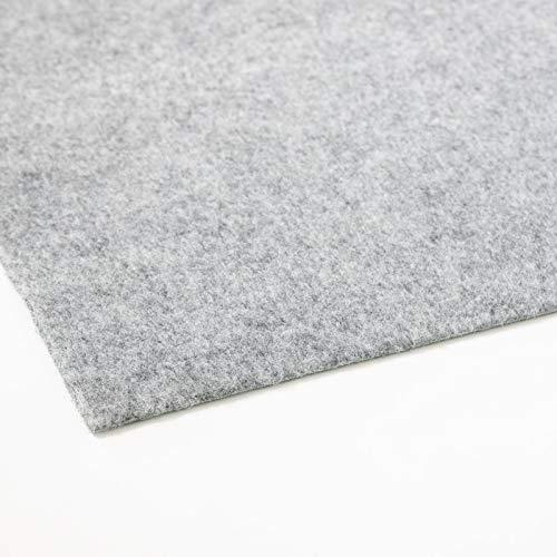 Rasenteppich Farbwunder Pro | Balkonteppich | Kunstrasenteppich für Terrasse, Balkon und Freizeit | Erhältlich in 7 Farben (50 x 50 cm, Grau)