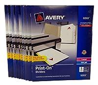 Bulk Buy : Avery Print onディバイダー5-tab 3つ穴パンチ11511, Pack of ( 10)