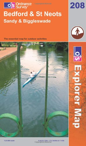 OS Explorer map 208 : Bedford & St Neots