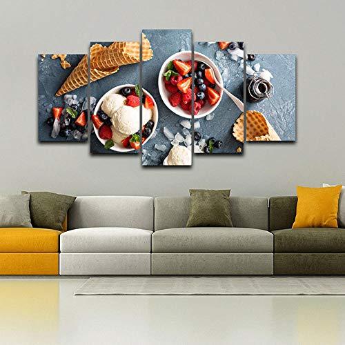 5 cuadros de lienzo: 40 cm x 60 cm, 40 cm x 80 cm, 40 cm x 100 cm (sin marco). Material de pintura de lienzo: lienzo impermeable de alta calidad y tinta resistente a los rayos UV para la más alta calidad. Lugar de uso: adecuado para sala de estar / d...