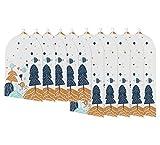 PTN Custodia Porta Abiti, 10Pezzi Copriabiti Antipolvere Trasparenti, Lavabile, Antipolvere, Resistente alla Muffa, Custodie Copri Abiti Lavabile, per Smoking, Giacca, Camicie, Gonne