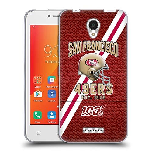 Head Case Designs Oficial NFL Bandas de fútbol 100 2019/20 San Francisco 49ers Carcasa de Gel de Silicona Compatible con Lenovo A Plus