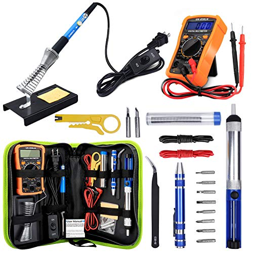 Anbes Soldering Iron Kit 60W Adjustable Temperature Welding Tool, Digital...