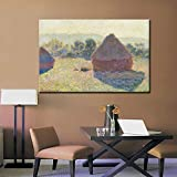 wZUN Pintura de Lienzo Abstracta mañana de Invierno pajar Pintura al óleo para Sala de Estar decoración de la Pared del hogar impresión Digital 50x75 cm