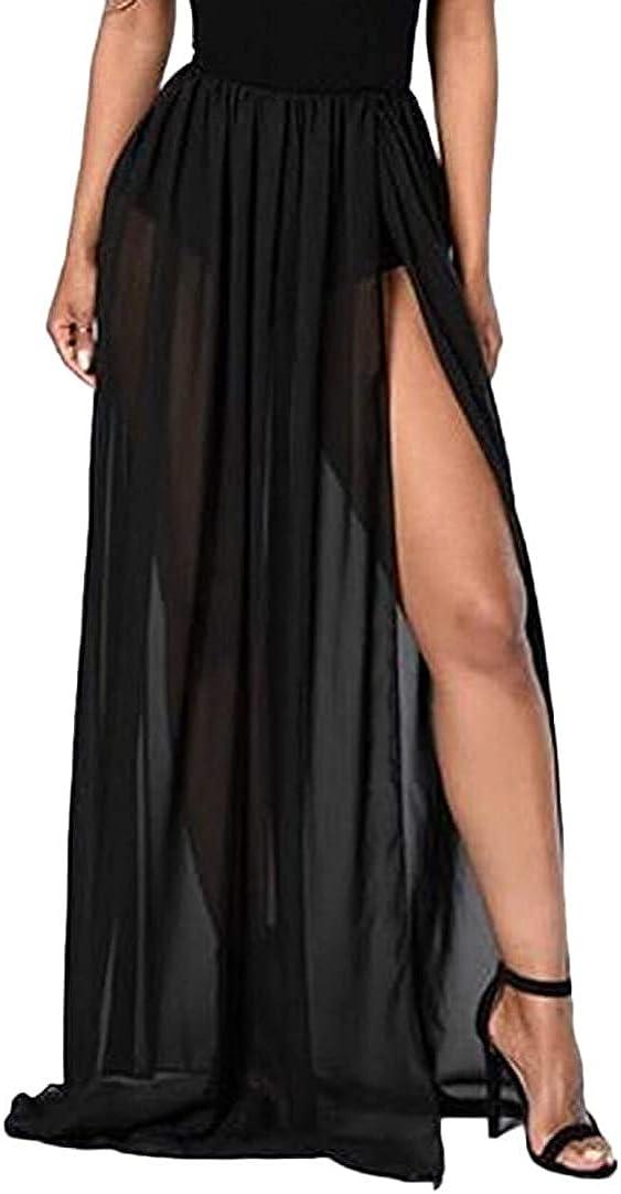 Women Tulle Tutu Long Skirts Wedding Party Cocktail Prom Mesh Maxi Dress Detachable Skirt Swimwear Cover Ups