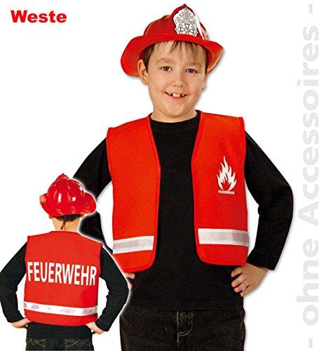 Party-Chic 15535 Kinder Kostüm-Feuerwehr-Weste-Gr. 116