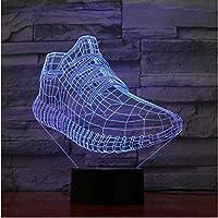 3DスニーカーシューズLEDライト子供発光玩具男の子女の子赤ちゃん7色点滅ライト3D
