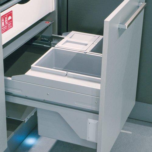 Hailo Cargo Soft Küchen-Abfalleimer, Plastik, Grau, One Size