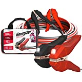 Energizer Jumper Cables for Car Battery with Built-in LED Lights, Heavy Duty Automotive Booster Cables for Jump Starting Dead or Weak Batteries - Carrying Bag Included (25-Feet (1-Gauge)