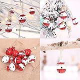 L.TSN Venta de Adornos navideños, 10 Piezas Adornos navideños Decoración Árbol de Navidad Colgante Pequeña Campana Colorida Feliz Navidad Decoración navideña Decorativa Adornos Decoración para fie