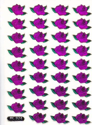 by soljo Roses Fleur Decal Autocollant de décalque 1 Metallic Glitter Dimensions de la Feuille: 13,5 cm x 10 cm