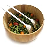 Salad Bowl & Stainless Steel Salad Servers Set   This multi-purpose set contains a premium wooden salad bowl, stainless steel salad fork and a stainless steel salad spoon   From Jean Patrique