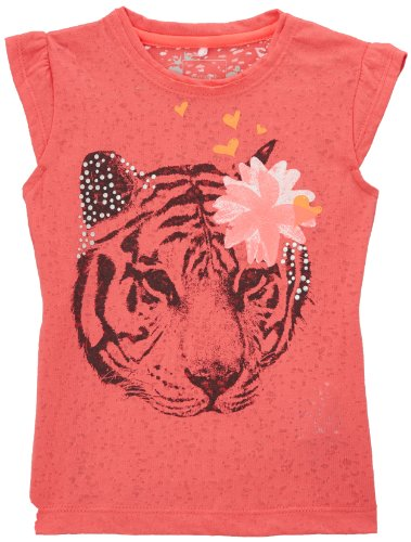 Name It IBEN Mini CAPSL Top 214 April T-Shirt, Rose (Calypso Coral), FR: 18 Mois (Taille Fabricant: 80) Bébé Fille