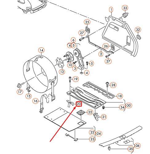 GTV INVESTMENT TOUAREG 7P 7P5810385 soporte de rueda de repuesto