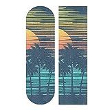 """NOT Biekaya Beach Palm Trees Skateboard Grip Tape Sheet Bubble Free Skateboard Griptape 33""""x9"""" Anti-Skid Sandpaper Longboard Grip Tape Easy Apply Sticky Skateboard Grip Tapes"""