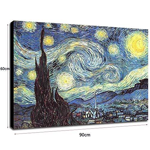 Tableau Peinture Sur Toile à L'Huile 60X90Cm. Tableau Acrylique Peint à La Main. Toile Sur Cadre Bois. Abstrait Ciel éToilé