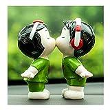 KELITE Adornos de Coches 2 unids/Set Resina Linda Pareja niños muñeca automóviles decoración Auto Interiores niños niñas figurillas decoración Accesorios (Color : B)