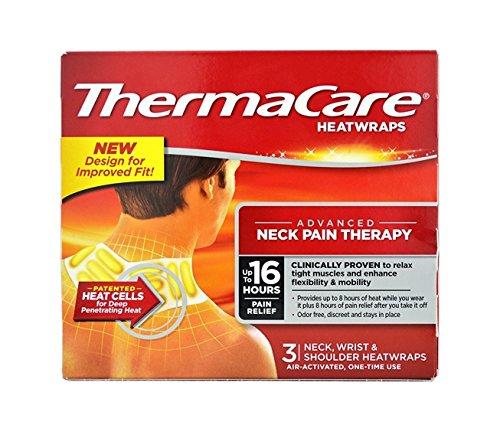 Thermacare Heatwrap for Neck,Wrist & Shoulder-Long Lasting Pain Relief-Total 3 Heatwraps