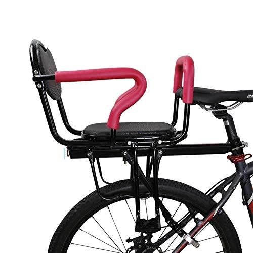 CRMY Asiento De Bicicleta para Niños, Respaldo De Asiento De Bicicleta para Niños con Valla Extraíble, Asiento Trasero De Engrosamiento Seguro para Bebés, para Niños De 2 A 8 Años
