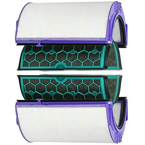 Purificador de aire piezas y accesorios compatibles con Dyson Hp04 Tp04 Dp04 sellado dos etapas purificador de aire Hepa y filtro de carbono Set de purificador de aire (color: Multi)