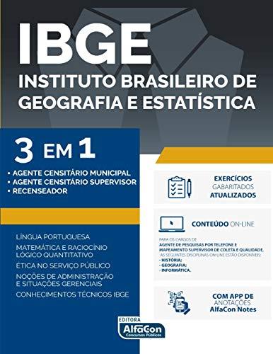 Ibge - 3 em 1 edital 2020: agente censitário municipal, agente censitário supervisor e recenseador