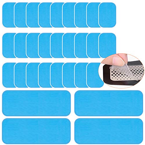 RIRGI 30 Almohadillas de Gel EMS Almohadillas Adhesivas para Abdominales Abs Trainer Almohadilla de Repuesto para electroestimulación Entrenador Abdominal