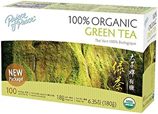 Prince of Peace Organic Green Tea 100 Tea Bags