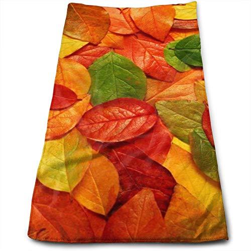 Green Leaf toallas de hoja roja, color amarillo, 28 x 60 cm, toalla para muebles, baño, playa, yoga, camping, natación, deportes, hotel y spa, etc. Necesidades diarias